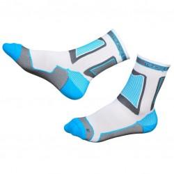 Носки для роликов Rollerclub white/cyan