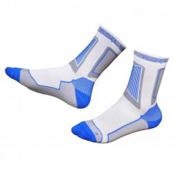 Носки для роликов Rollerclub white/blue