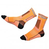 Носки для роликов Rollerclub neon orange/black