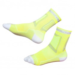 Носки для роликов Rollerclub neon yellow/white